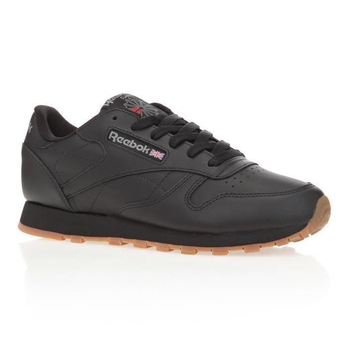 Femmes Reebok Classique Cuir Chaussures Classiques Noir