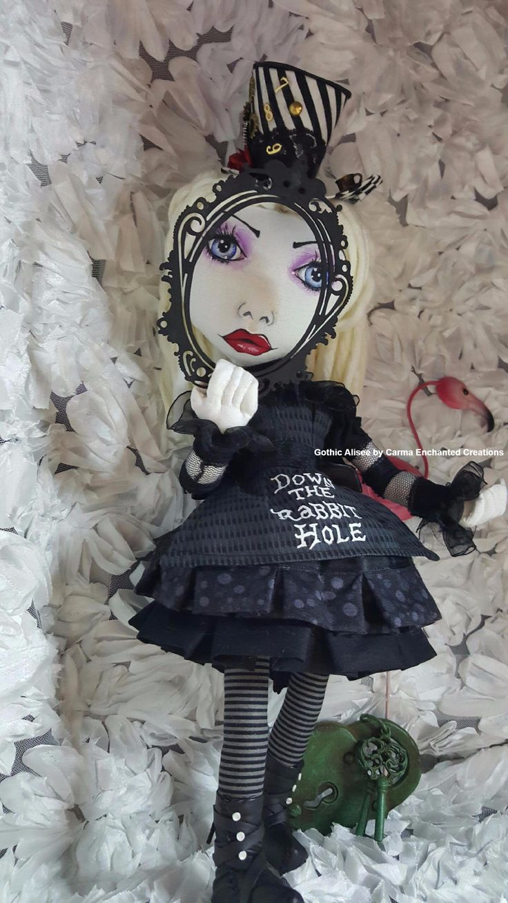 Gothic Alisee . Darkness in Wonderland By Carma Enchanted dolls .