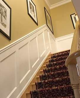 Image result for brown wainscoting