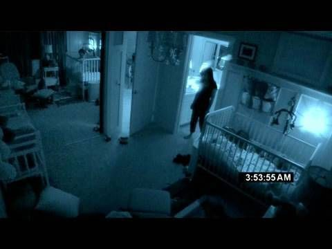 "PARANORMAL ACTIVITY 2-Trailer--Just as Dan and Kristi welcome a newborn baby into their home, a demonic presence begins terrorizing them, tearing apart their perfect world and turning it into an inescapable nightmare. Security cameras capture the torment, making every minute horrifyingly real. Critics warn to ""say good-bye to sleep"" as Paranormal Activity 2 will haunt you long after its shocking final scene."