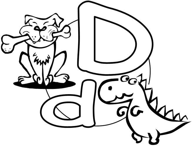 American English Pronunciation Letter D Di Givemesomeenglish Dinosaur Coloring Pages Coloring Pages Lettering