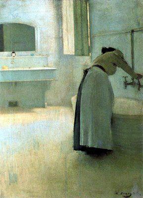 'Preparing the Bath', by Ramon Casas. (1866-1932)