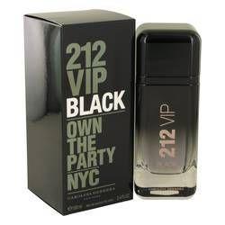 212 Vip Black Eau De Parfum Spray By Carolina Herrera   FragranceOutletz.com discounted authentic brand name fragrances. Save up to 50% off retail.  Sign up for newsletter and enjoy additional discounts.