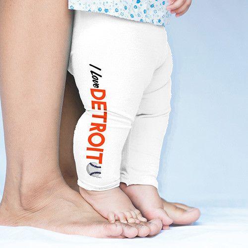 I Love Detroit Baseball Baby Leggings Trousers