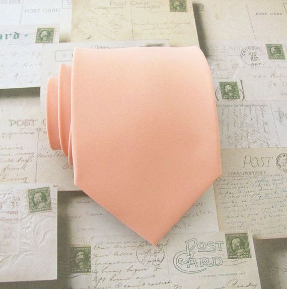 Necktie Light Peach Mens Tie by TieObsessed on Etsy, $19.95