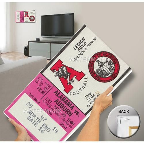 1986 Iron Bowl Mega Ticket - Alabama 17 Auburn 21