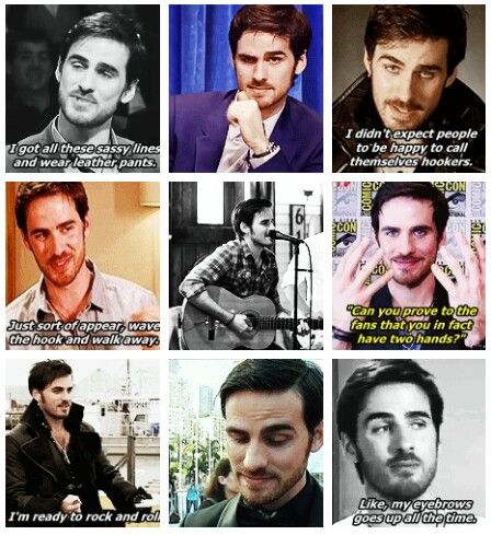 Colin O'Donoghue  .Basically the most perfect person ever.