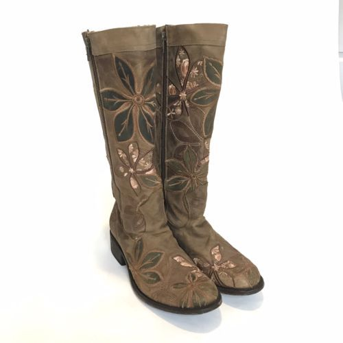 925cbcb68c0 Womens-Dan-Post-10-Double-Zipper-Zip-Floral-Boot-Cowboy-Riding-Knee-High