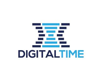 Digital Time Logo design - Logo design of a hour glass made from simple lines.  Price $250.00