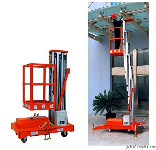 Aluminum lift table is mainly used to lift workers to higher places for It is characterized by manual move, portability and easy to work. Lift power: AC(110V, 220V, 380V, 415V), DC or diesel available. Both ground and platform can control the lift by hydraulic cylinder, easily operated. http://www.mornlift.com/trailing-lift/trailing-aluminum-lift.html