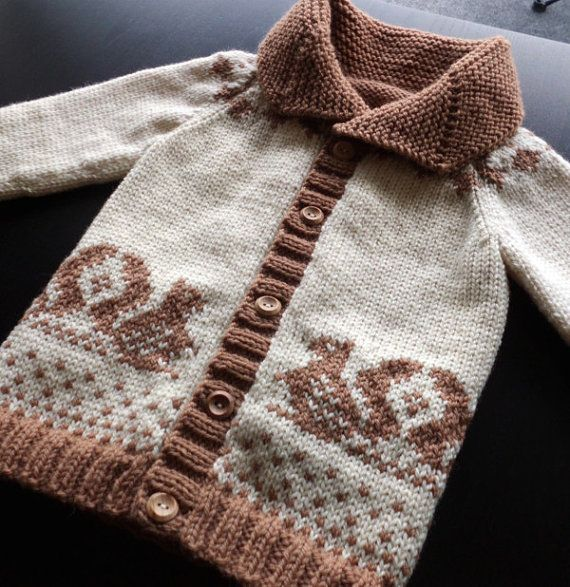 Small Squirrel Custom Cowichan Style Sweater by saintpierre
