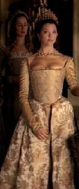 Anne Boleyn floral gown front