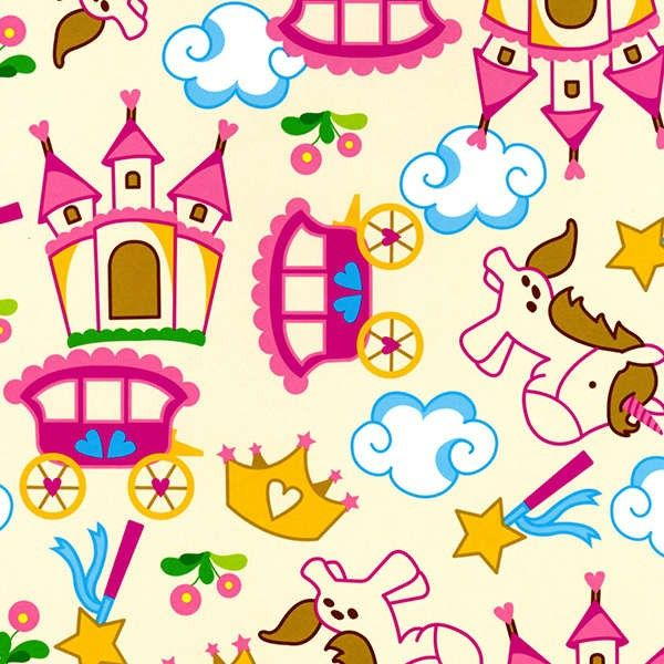 http://www.plushaddict.co.uk/new-arrivals/david-textiles-fantasy-world-cream-pink.html David Textiles - Fantasy World Cream Pink - cotton fabric