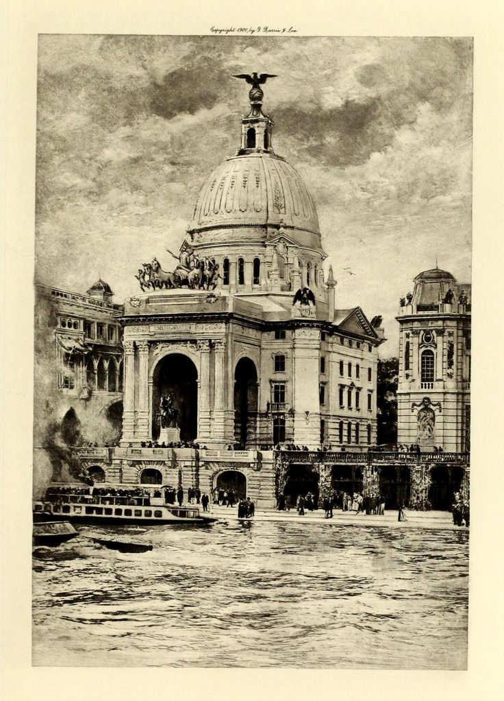 The American Pavilion at the Exposition Universelle of 1900, Paris