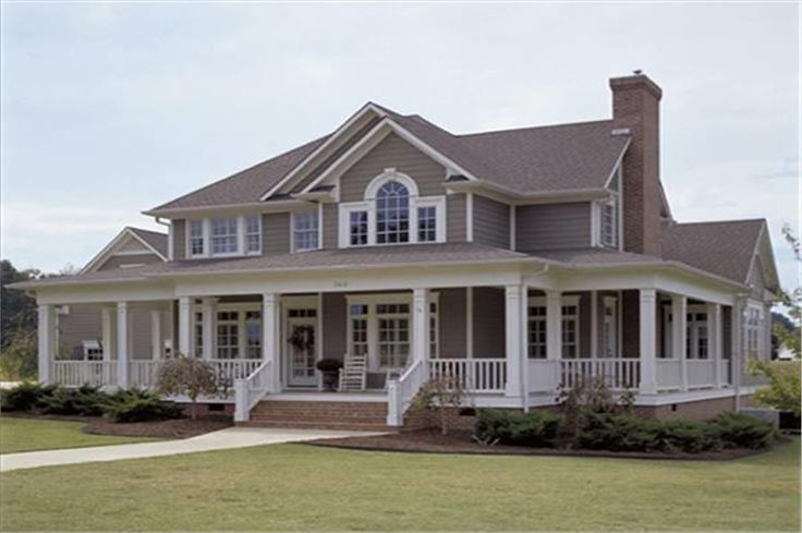 Luxury Farmhouse style home. Complete with southern touches. House plan #117-1030.
