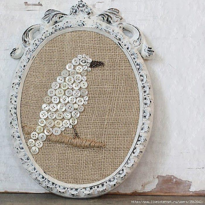 Украшения из пуговиц. Decoration of buttons