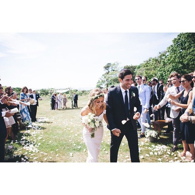 Hannah Soboroff Tied The Knot Outside Beach Plum Inn On Marthas Vineyard