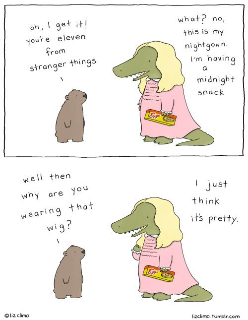 lizclimo: stranger things have happened.