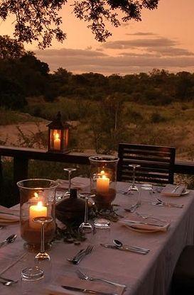 Romantic Sunset Bush Dining, Drakensberg, South Africa