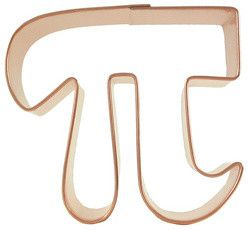 I think I need one!  Pi Cookie Cutter - eclectic - cookie cutters - CopperGifts