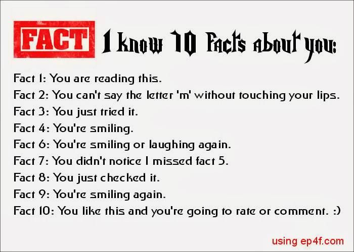 I Know 10 Facts About You