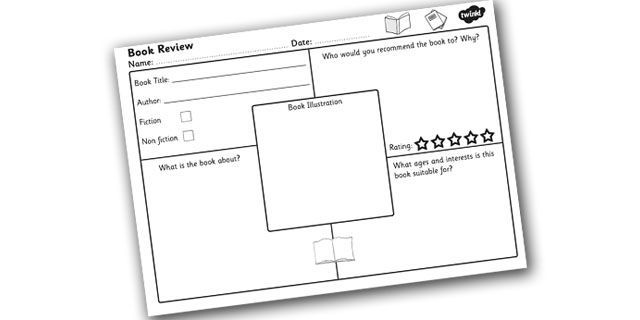 book review template for kids - Google Search
