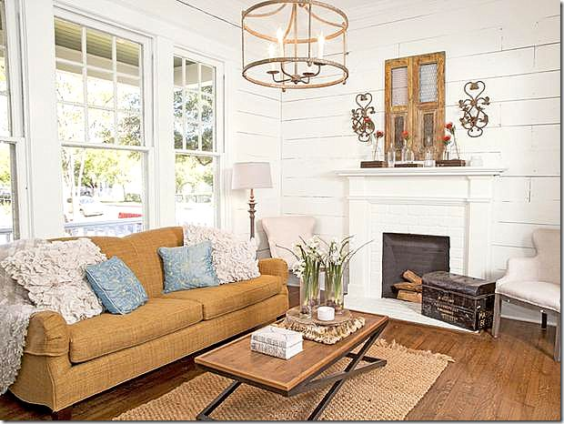 Joanna Gaines Sofa Rug Chandelier Whole Room