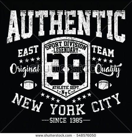 New York City authentic sport, east team typography, t-shirt graphics, vectors