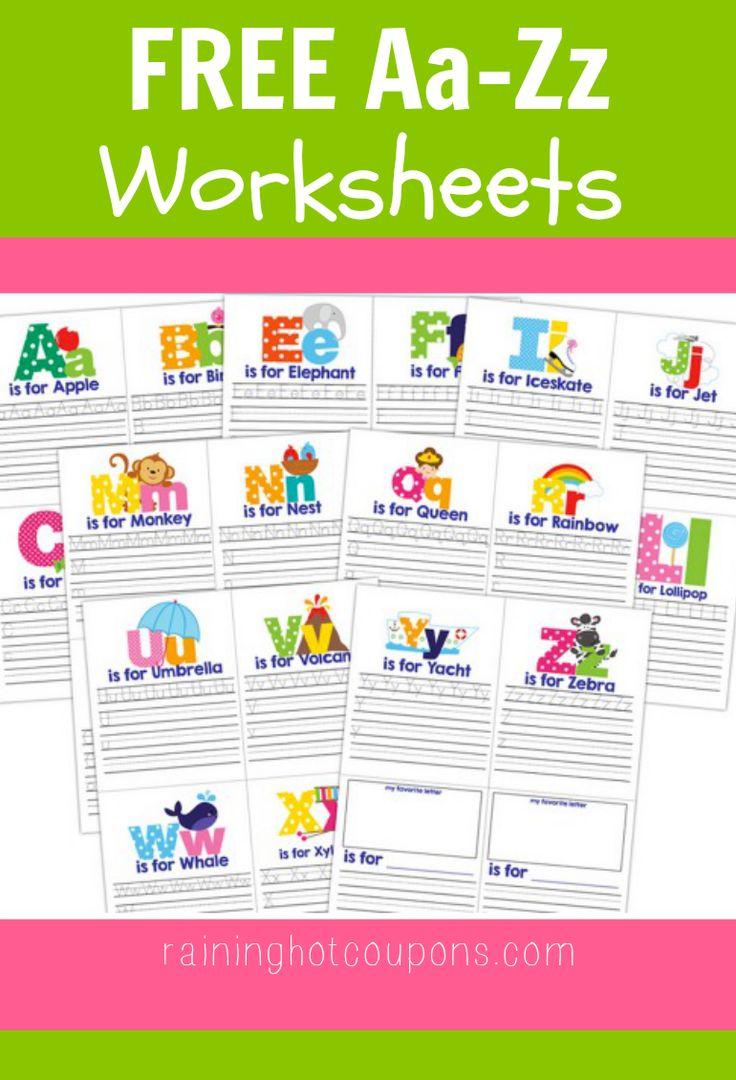 FREE Aa-Zz Worksheets!