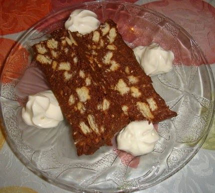 Make My Day! : Σοκολατένιος κορμός με μπισκότα (τύπου μωσαϊκό)