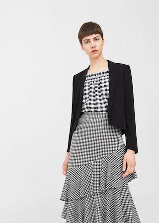 Crop blazer | MANGO