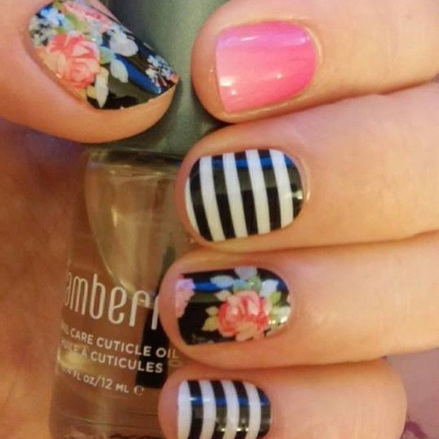 Kiss Me Ombre,  Black & White Stripe, Sweet Nothing. SHOP HERE: https://jamberrybee.jamberry.com/au/en/