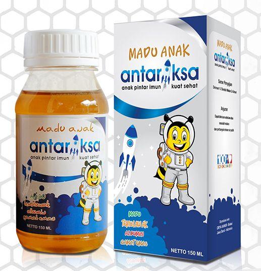 Botol box madu antariksa ukuran 150ml