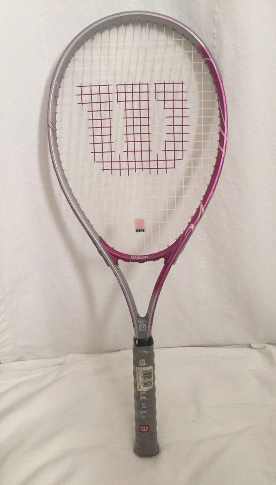 Wilson Hope Tennis Racquet Purple Pink Breast Cancer Awareness 4 3/8 L3 Grip #Wilson