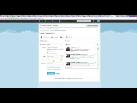 How to Add Twitter Widget on Google Sites - YouTube