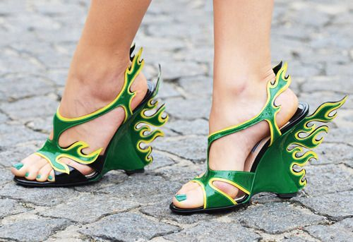 prada shoes and matching pedi