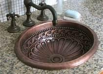 Antique Bathroom Vanities - Bing Images: Antiques Vanities, Rustic Bathroom, Bath Vanities, Copper Sinks, Amazing Bathroom, Bathroom Ideas, Bathroom Sinks, Antiques Bathroom Vanities, Master Bathroom