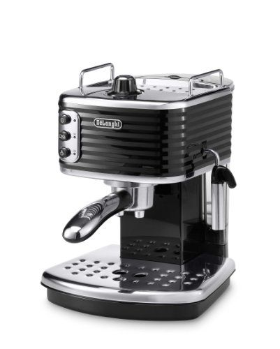 buy now   £170.99   Delonghi Scultura Espresso Machine. High performance 15 bar pump pressure. Traditional milk frother: mixes steam, air and milk, producing a rich, creamy froth for great cappuccino. Professional  ...Read More