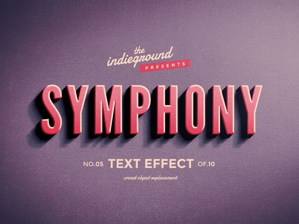 Retro Vintage Text Effects by Roberto Perrino