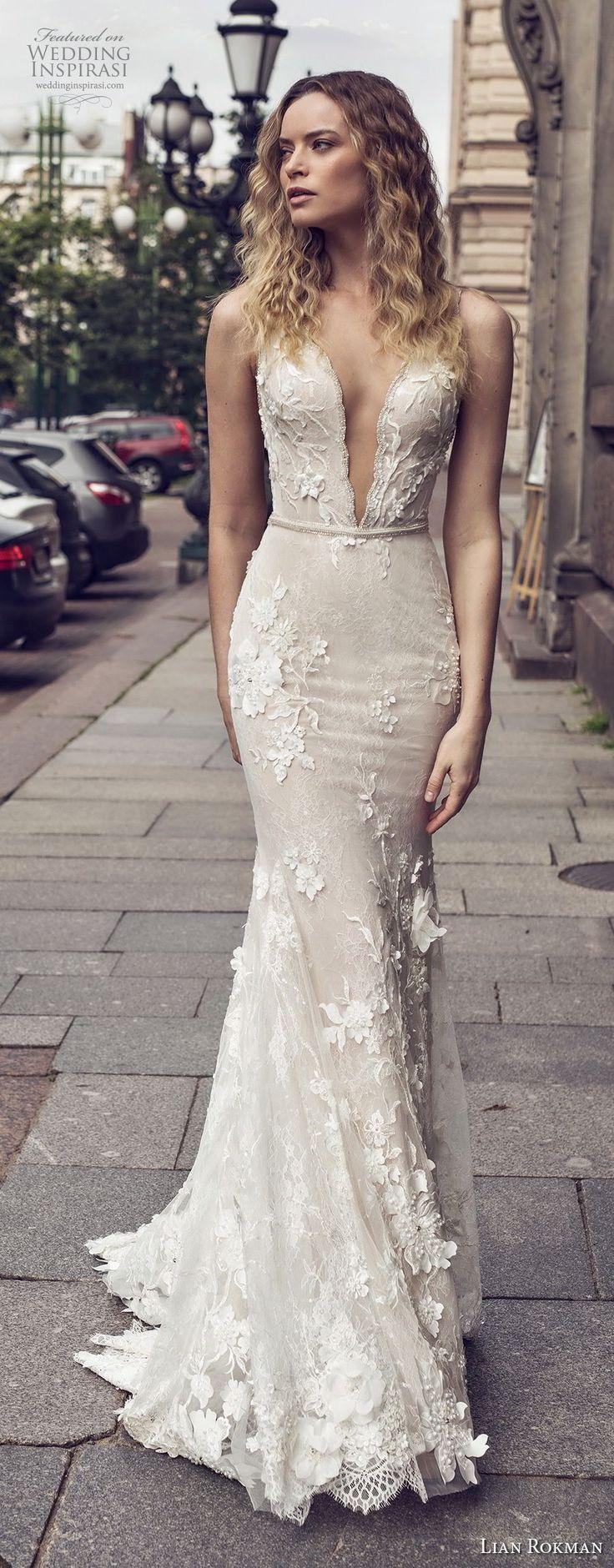 lian rokman 2018 bridal sleeveless deep plunging v neck full embellishment elegant sexy fit and flare wedding dress low open back medium train (2) mv  -- Lian Rokman 2018 Wedding Dresses