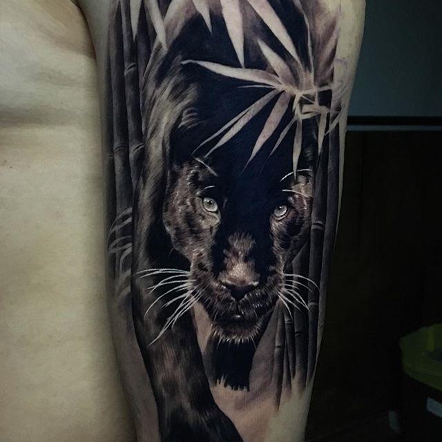 Ash Higham tattoo Black Panther
