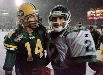 Doug Flutie and Danny McMannus 1996 Grey cup in Hamiliton.Flutie's last CFL game before returning to the NFL