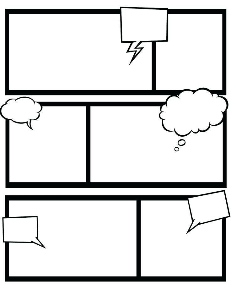 Cartoon Template Worksheet Free Printable Templates Comic