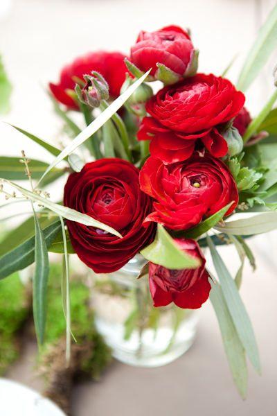 Wedding Bliss Simple Understated Wedding Nuptials| Serafini Amelia| Romantic Garden Wedding Theme| Red ranunculus