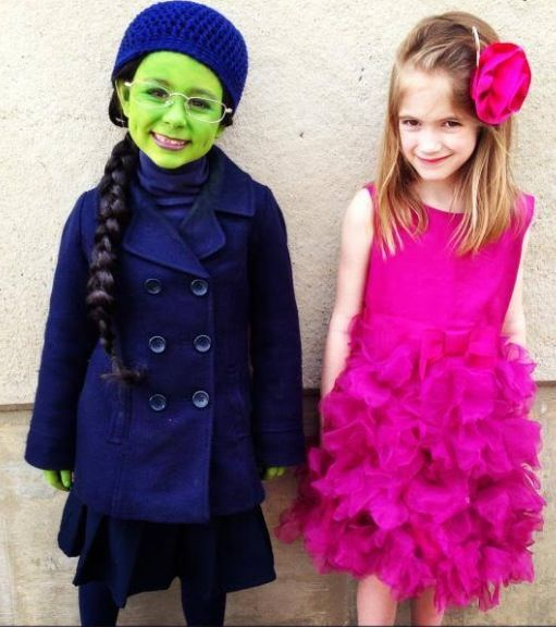 Elfaba and Glinda  I will dress my Nieces in this one year for halloween