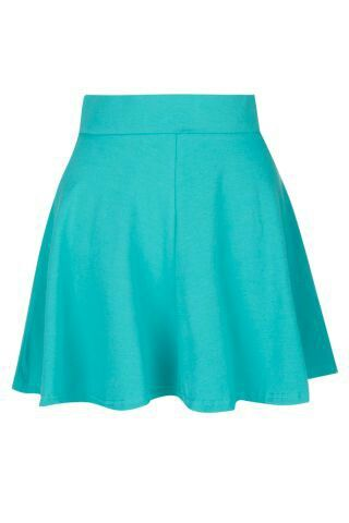 Teal skater skirt-new look