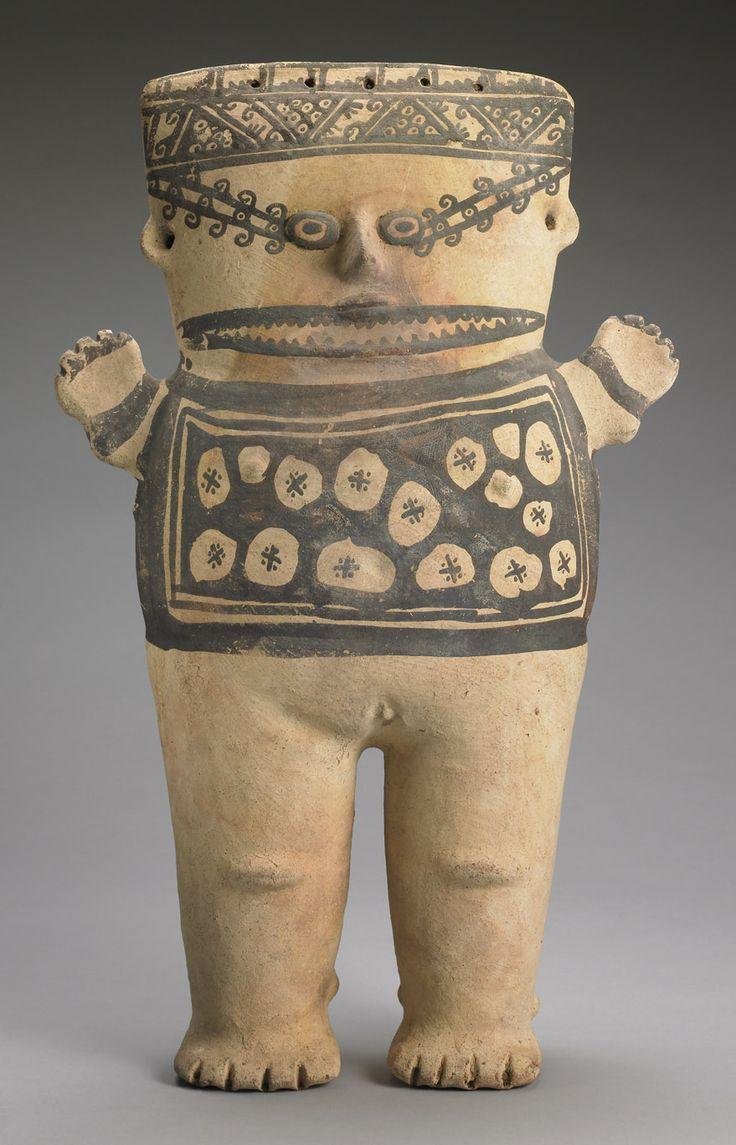Female Whale Shark Shaman Figure. Chancay, Peru, 1200-1450. Chest design represents tattoos or body paint. Carlos Museum