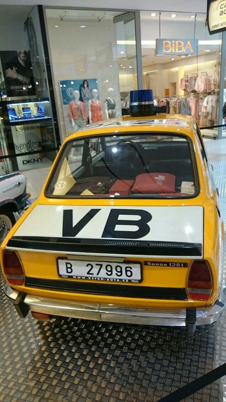 Skoda 120 Old Police car