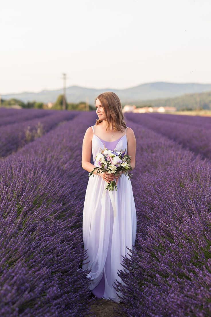 bridal - lavender fields - Provence - wedding in Provence - wedding planner: Laura Dova Weddings - www.lauradovaweddings.com Photography by Philip Andrukhovich