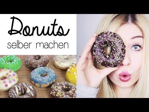 Donuts Selber Machen - Donuts mit Schokoladenglasur und Zuckerstreuseln (Rezept) - YouTube